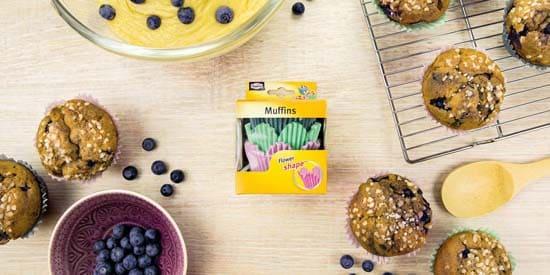 Muffinsdej forberedes til Flowermuffinsforme fra Toppits
