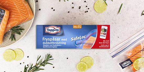 Toppits® Safeloc® - fryseposer med zip