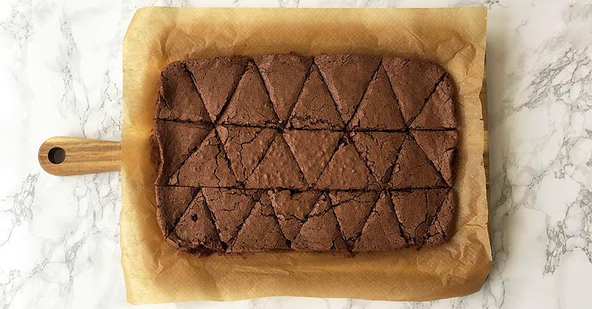 Brownies I bageform på Toppits bagepapir