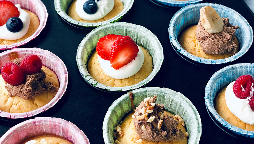 Gode pandekagemuffins i muffinsforme fra Toppits®