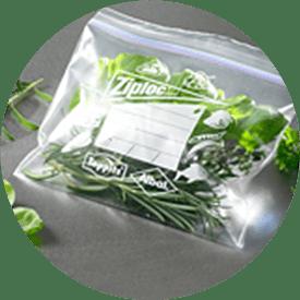 Ziploc® frysepose med salat