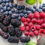 Forskellige frosne bær med Toppits