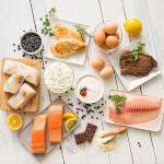 Forskellige friske fødevarer